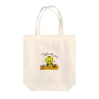 トラちゃんの幸せな朝 Tote bags