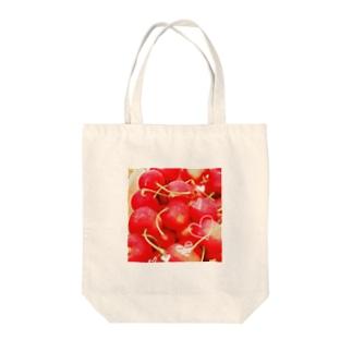 サクランボ Tote bags