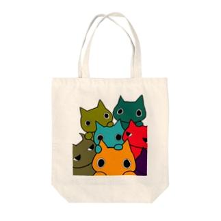 POPねこ集合 Tote bags