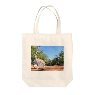 lemurくんのおさんぽ。 Tote bags