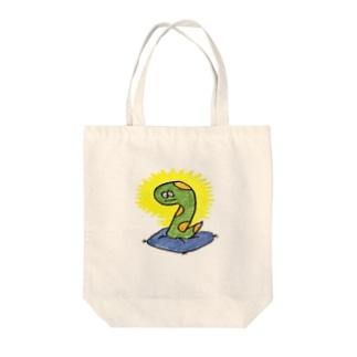 ヘビ太の冥想 Tote bags