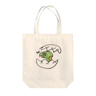こんにちは〜 Tote bags