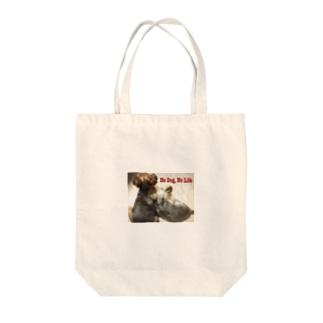 No Dog, No Life Tote bags