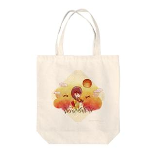 染まり始める秋色 Tote bags