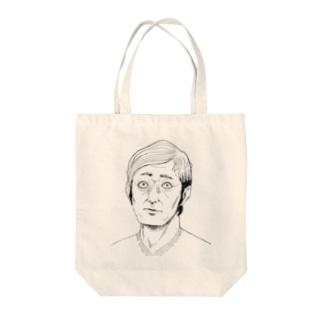 Vネックおじさん Tote bags