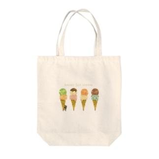 happy ice cream トートバッグ