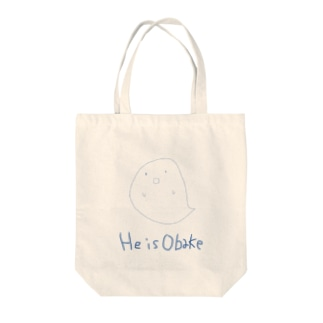 He is Obake Tote bags