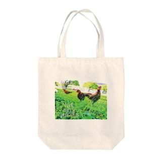 ワイルド チキン Tote bags