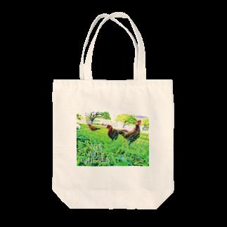 BRAVE MANTISのワイルド チキン Tote bags