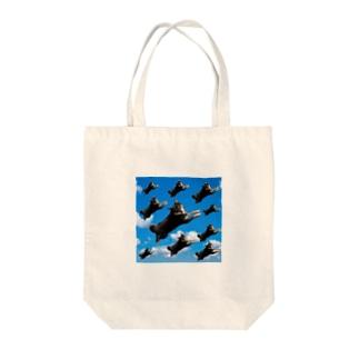空飛ぶ柴犬 Tote bags