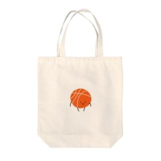 ミミのおみせのバスケボールまるちゃん。 Tote bags