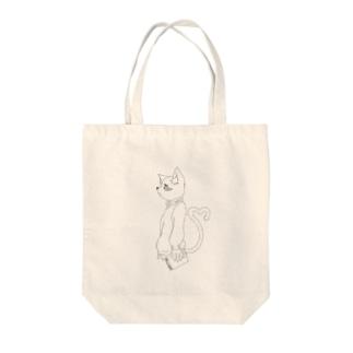 片想いの猫 Tote bags