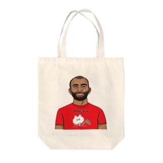 くまコロりん『ラグビーTシャツ』着用イメージ Tote bags