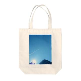 飛行機雲 Tote bags