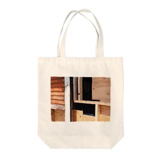 ツギハギケンチク Tote bags