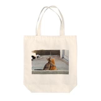 猫写真家 森永健一 Feel So High shopのずっと一緒 Tote bags
