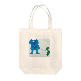 サドガシマカイネコ Tote bags