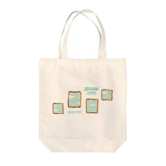 WINDOW Tote bags