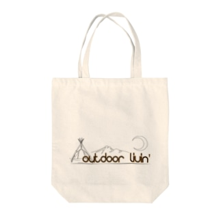 outdoor livin' Tote bags