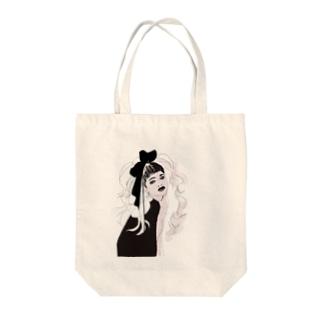 無敵りぼん Tote bags