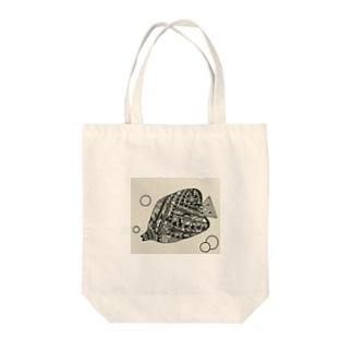 エスニック チョウチョウウオ Tote bags