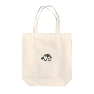 雨ふり楽しい Tote bags