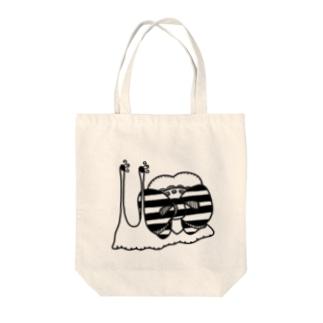 リボンカタツムリ Tote bags