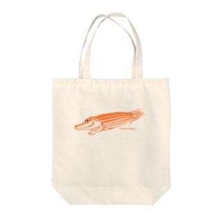 わにモロコシ Tote bags