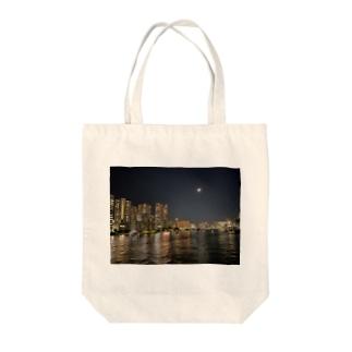TOKYO MOON(東京夜景) Tote bags