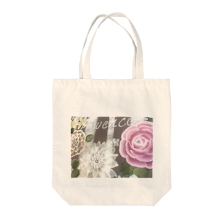foryouuuuuの大輪の薔薇&ダリアトールペイント Tote bags