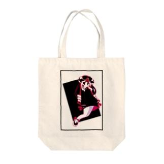 遺影ちゃん(ピンク) Tote bags