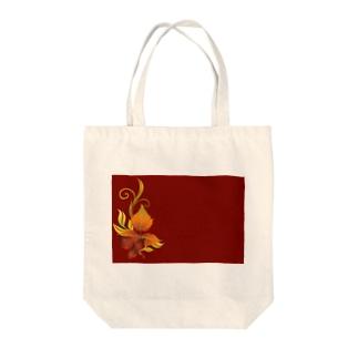 緋色 Tote bags