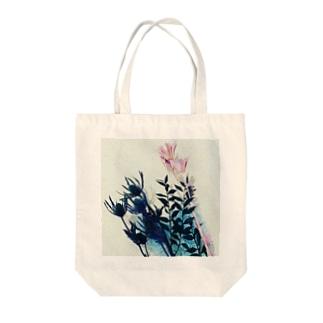 くすみカラーのお花たち Tote bags