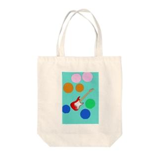 水玉エレキ Tote bags