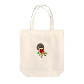読書のぼぶちゃん Tote bags