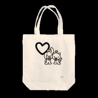 ジージョのデカ文字わんこ「♡」 Tote bags