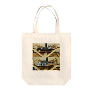 *猫シリーズ*ハンモック Tote bags