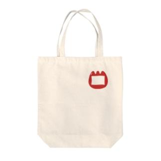 幼稚園児風のチューリップの名札 Tote bags