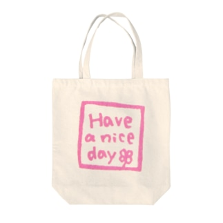 Have a nice day(ピンク) Tote bags