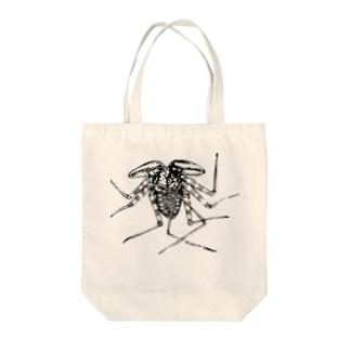 ウデムシ Tote bags