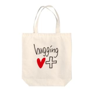 hugging♡+_LOGO♡ トートバッグ