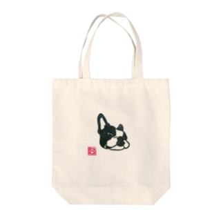 monochrome dogsのふてボストン Tote bags