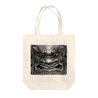 鬼瓦 Tote bags