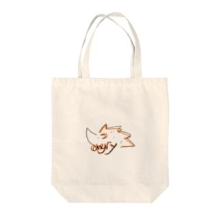 アングリーハリネズミ Tote bags