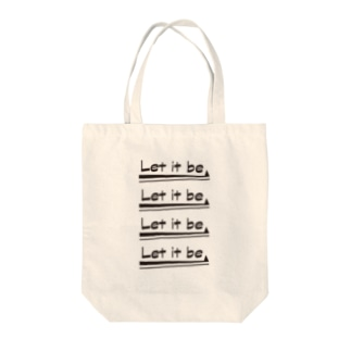 Let it be Tote bags
