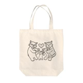 にゃーん Tote bags