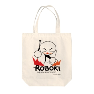 ROBOKI(ロボキ)LANDING Tote bags