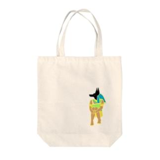 体育座りアヌビス神 Tote bags