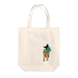 体育座りアヌビスTシャツ/iPhoneケース/バック Tote bags