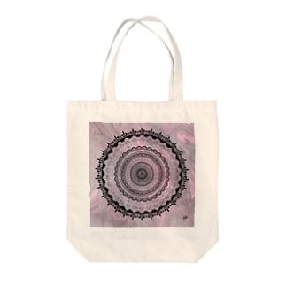 曼荼羅 on マーブル模様 6 Tote bags